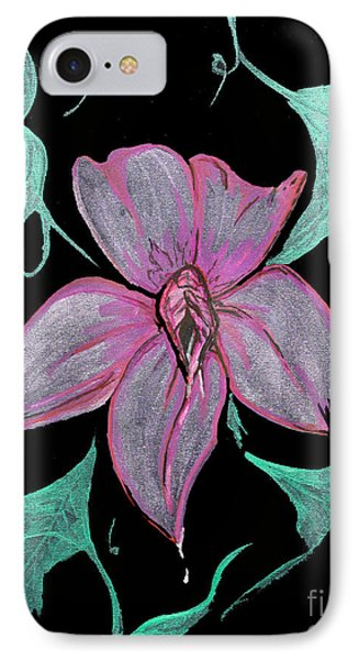 IPhone Case featuring the painting Exotic Flower by Tbone Oliver