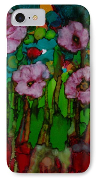 IPhone Case featuring the painting Exotic Flowers # 51. by Sima Amid Wewetzer