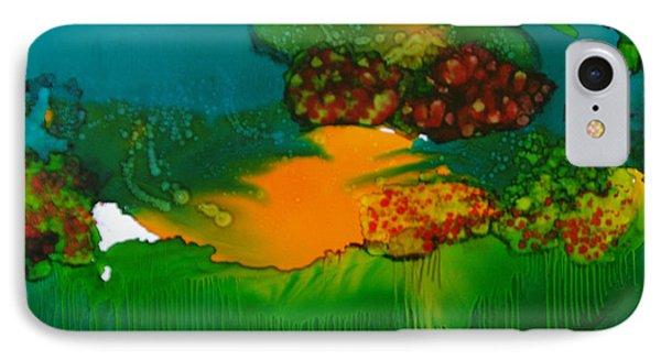 IPhone Case featuring the painting Exotic Landscape # 47 by Sima Amid Wewetzer