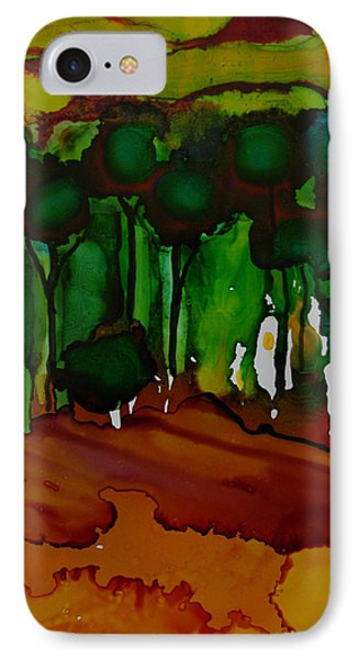IPhone Case featuring the painting Exotic Landscape # 74 by Sima Amid Wewetzer