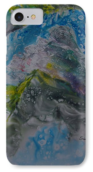 IPhone Case featuring the painting Exotic Landscape # 76 by Sima Amid Wewetzer