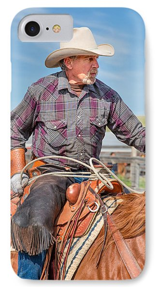 Experienced Cowboy IPhone Case by Todd Klassy