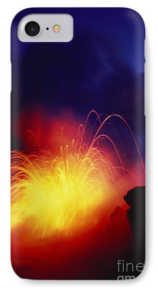 Exploding Lava And Person Phone Case by Greg Vaughn - Printscapes