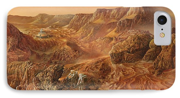 Exploring Mars Nanedi Valles IPhone Case by Don Dixon