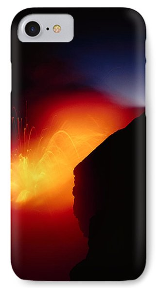 Explosion At Twilight Phone Case by William Waterfall - Printscapes