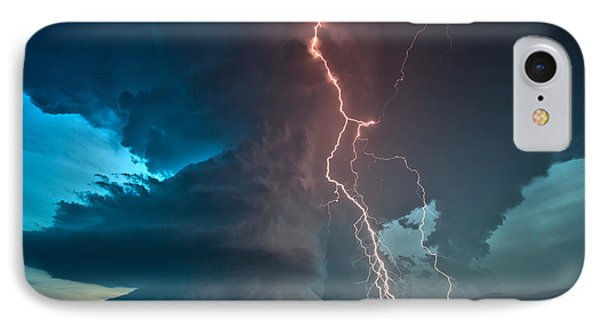 Explosion Of Light IPhone Case by James Menzies