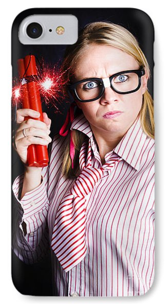 Explosive Nerd Erupts With Fury IPhone Case by Jorgo Photography - Wall Art Gallery