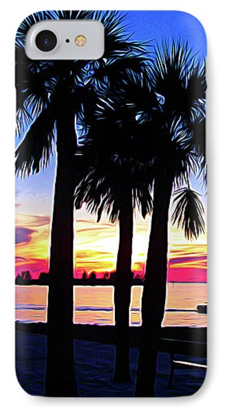 IPhone Case featuring the photograph Expressionalism Beach Sunset by Aimee L Maher Photography and Art Visit ALMGallerydotcom