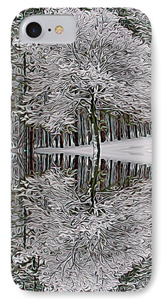 Expressionalism Winter Reflection IPhone Case