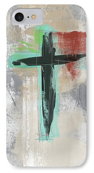 Cross iPhone 7 Case - Expressionist Cross 3- Art By Linda Woods by Linda Woods