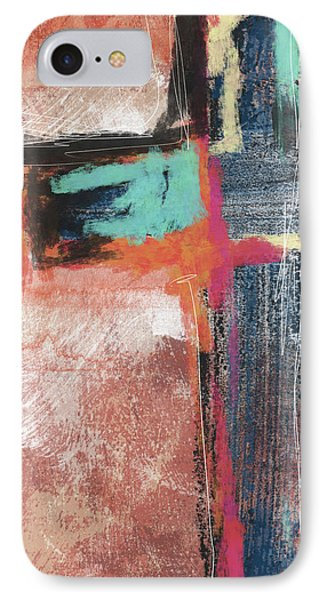 Cross iPhone 7 Case - Expressionist Cross 5- Art By Linda Woods by Linda Woods