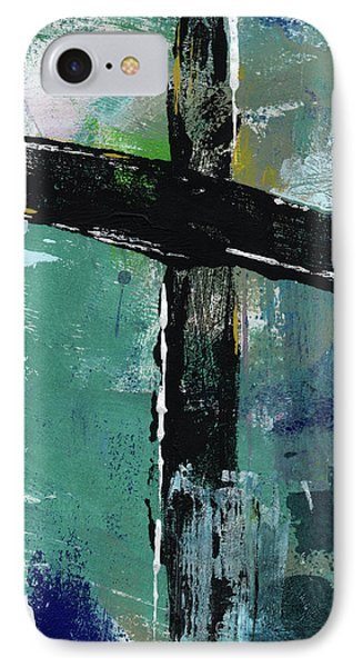Cross iPhone 7 Case - Expressionist Cross 8- Art By Linda Woods by Linda Woods