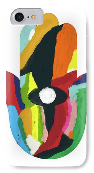 Expressionist Hamsa- Art By Linda Woods IPhone Case