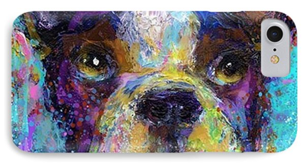 Expressive Boston Terrier Painting By IPhone Case