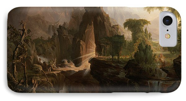 Expulsion From The Garden Of Eden IPhone Case by Thomas Cole