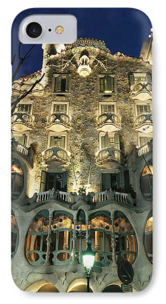 Exterior View Of An Antoni Gaudi Phone Case by Richard Nowitz
