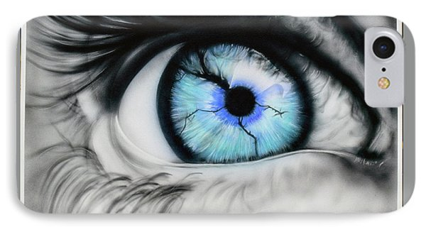 Eye Art Painting IPhone Case by Cody LeBouef