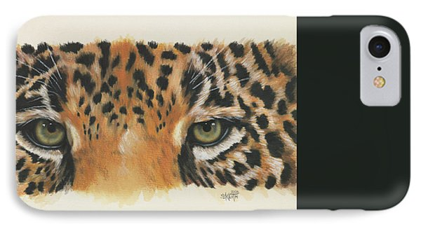 IPhone Case featuring the painting Eye-catching Jaguar by Barbara Keith
