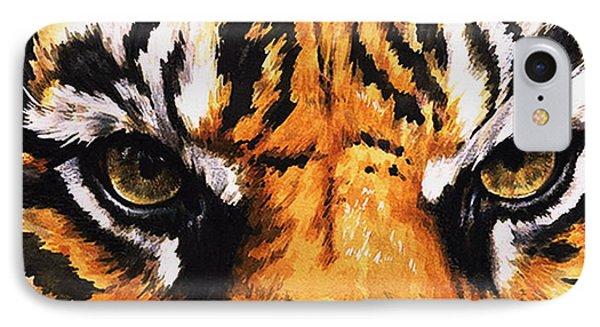 Eye-catching Sumatran Tiger Phone Case by Barbara Keith