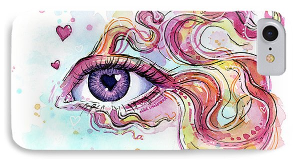 Eye Fish Surreal Betta IPhone Case by Olga Shvartsur