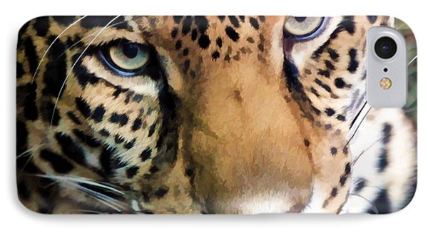Eye Of The Leopard IPhone Case by Athena Mckinzie