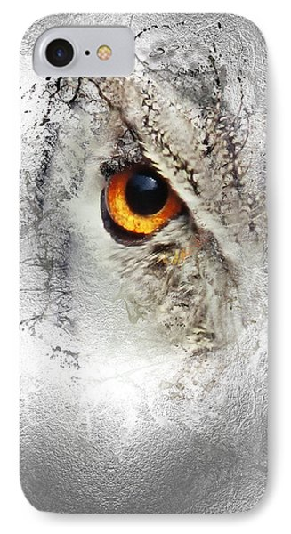 IPhone Case featuring the photograph Eye Of The Owl 1 by Fran Riley