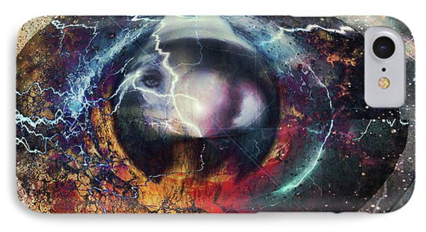 IPhone Case featuring the digital art Eye Of The Storm by Linda Sannuti