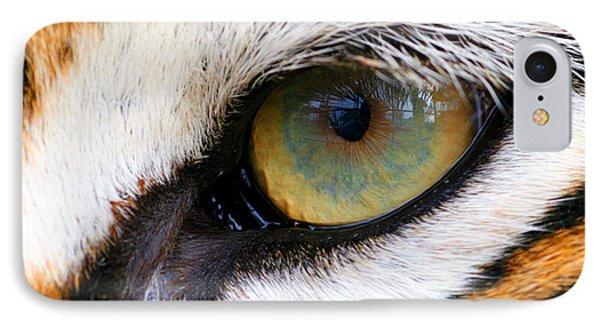 Eye Of The Tiger Phone Case by Helen Stapleton