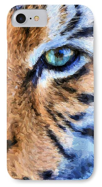 Eye Of The Tiger Phone Case by JC Findley