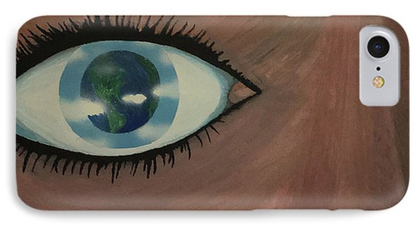 IPhone Case featuring the painting Eye Of The World by Thomas Blood