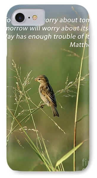 Eye On The Sparrow Phone Case by Robert Frederick