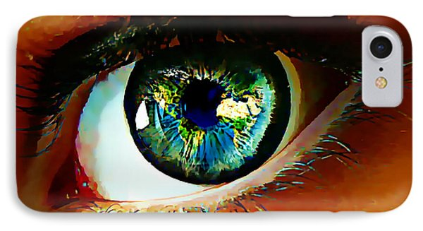 Eye On The World IPhone Case by Lynda Payton