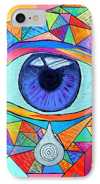 Eye With Silver Tear IPhone Case