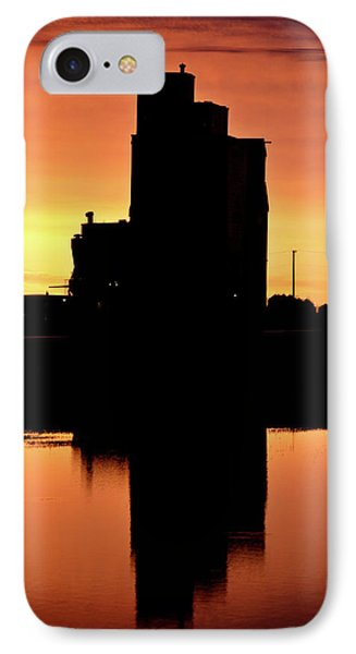 Eyebrow Gain Elevator Reflected Off Water After Sunset Phone Case by Mark Duffy