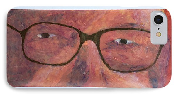 IPhone Case featuring the painting Eyes by Donald J Ryker III