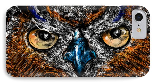 Eyes In The Night... IPhone Case by Alessandro Della Pietra