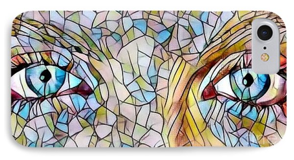 Eyes Of A Goddess - Stained Glass IPhone Case
