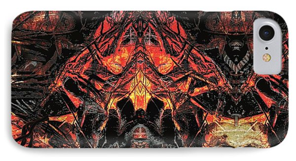 IPhone Case featuring the painting Eyes Of Darkness  by David Mckinney