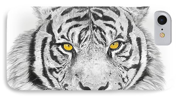 Eyes Of The Tiger Phone Case by Shawn Stallings