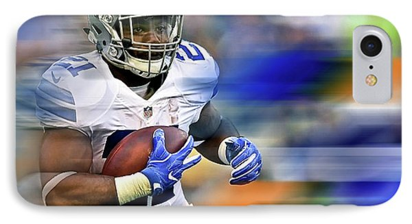 Ezekiel Elliot, Number 21, Running Back, Dallas Cowboys IPhone Case by Thomas Pollart