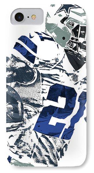 IPhone Case featuring the mixed media Ezekiel Elliott Dallas Cowboys Pixel Art 6 by Joe Hamilton