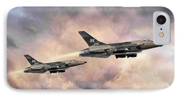 IPhone Case featuring the digital art F-105 Thunderchief by Peter Chilelli