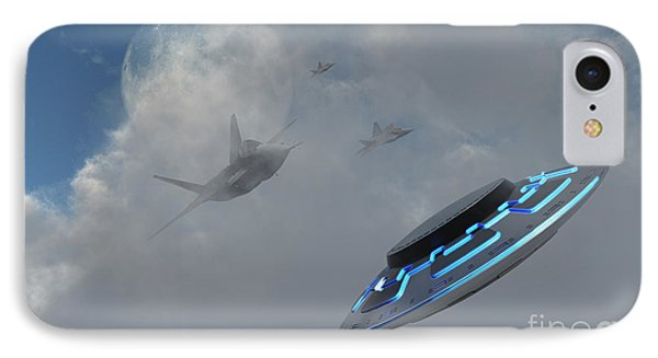 F-22 Stealth Fighter Jets On The Trail Phone Case by Mark Stevenson