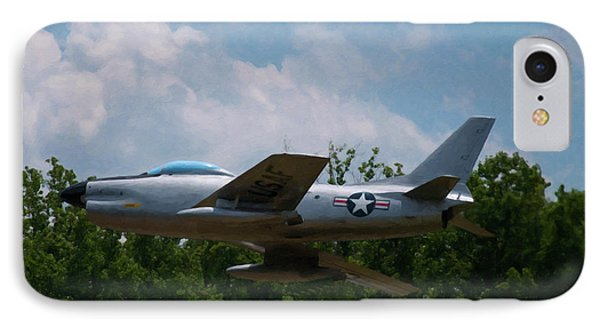 IPhone Case featuring the digital art F-86l Sabre by Chris Flees