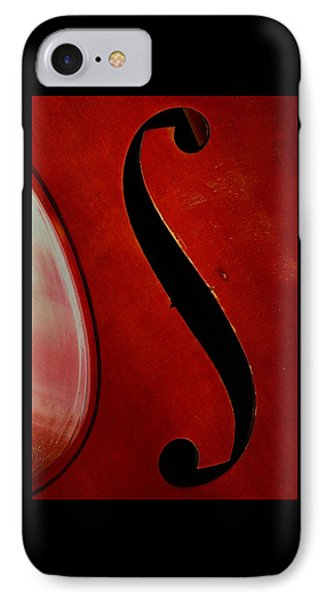 IPhone Case featuring the photograph F Hole by Chris Berry