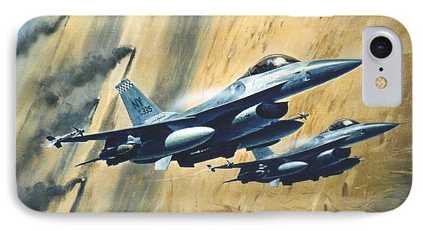 'f16 Desert Storm' IPhone Case by Colin Parker