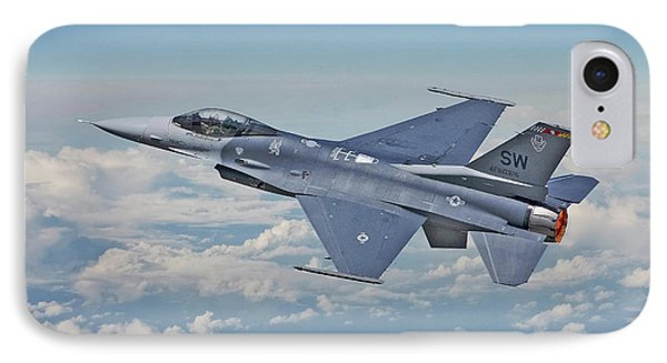 IPhone Case featuring the digital art F16 - Fighting Falcon by Pat Speirs