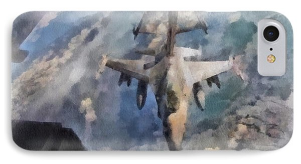 F16 Refueling Pa 01 IPhone Case by Thomas Woolworth