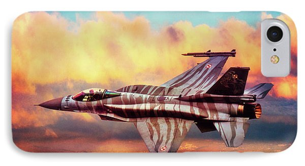 IPhone Case featuring the photograph F16c Fighting Falcon by Chris Lord