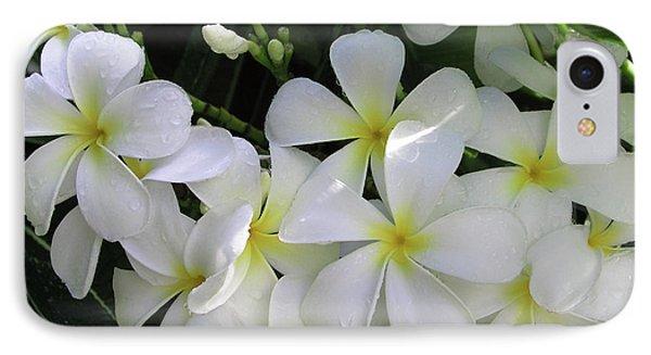 F2 Plumeria Frangipani Flowers Hawaii Phone Case by Donald k Hall